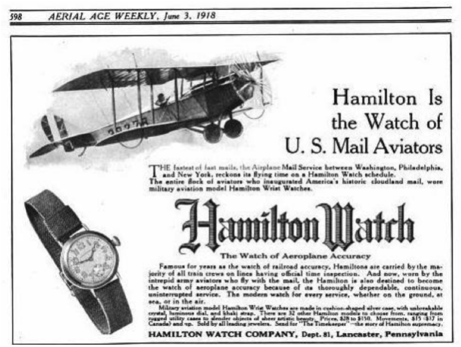 hamilton trench watch 1918